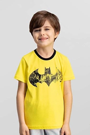 Batman Batman Lisanslı Grimelanj Erkek Çocuk T-Shirt Sarı